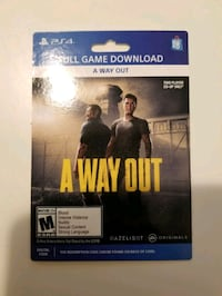 A way out - PS4 GAME