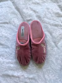 pair of brown suede slip-on shoes