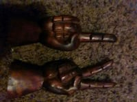two brown wooden hand gestures statuettes Columbus, 43204