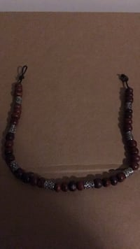 black and gray beaded necklace 3151 km