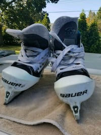 pair of white Bauer ice skates Mississauga, L5A 2P9