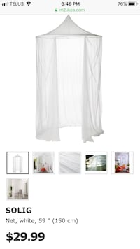 Brand new ikea bed canopy net Mississauga, L5B 1K5