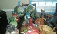 Antique African Hand painted different sizes & color pots Shreveport, 71118