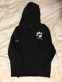 Black and white pullover hoodie (size medium)