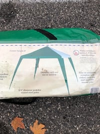 white and green dome tent bag 211 mi