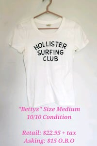 White Hollister Surfing Club Graphic T-Shirt Vaughan, L4L 4Y7