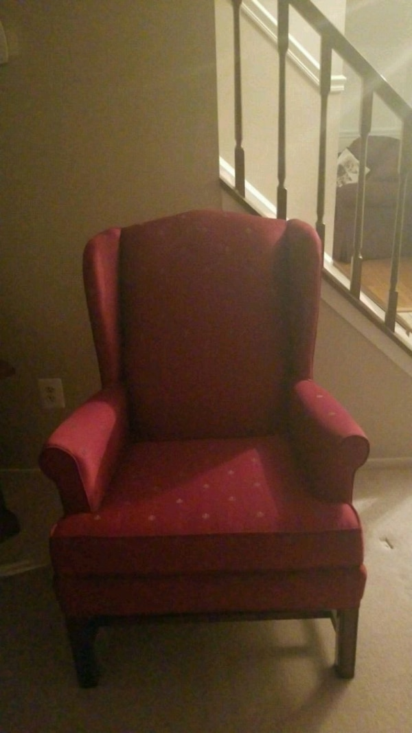 red and black leather sofa chair