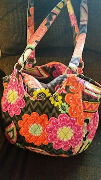 red and pink floral tote bag Hurricane, 25526