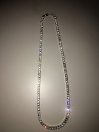 Gemstone silver Tennis Chain