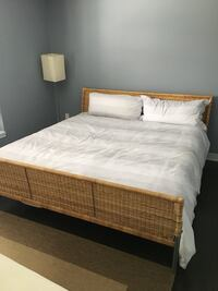 King frame with mattress.  Vaughan, L4L 2S7