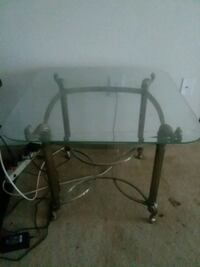 rectangular glass top table with black metal base Temple Hills, 20748