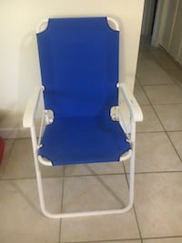 white and blue folding chair Germantown, 20874