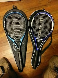 two blue and black tennis rackets Cincinnati, 45249