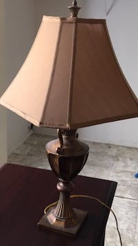 Brown and white table lamp Orlando, 32839