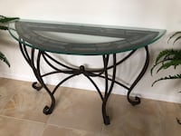 Glass and metal frame coffee table, 2 end tables, and entry table. In like new condition. Cash only. Sold as is. You must proving your own moving.    Will not be for sale anymore after July 21st/ Saturday.  Las Vegas, 89178