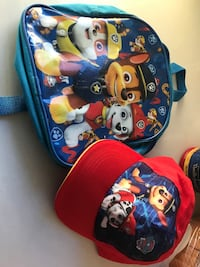 Backpack and hat