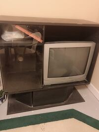 The shelve and the TV working good free for someone need it!  Lorton, 22079
