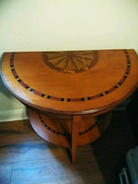 brown wooden round side table Philadelphia, 19125