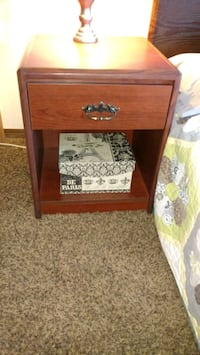 brown wooden 2-drawer nightstand Sioux Falls, 57104
