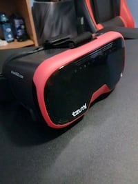 black and red Tzumi VR headset