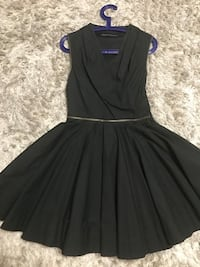All saints black dress with heavy skirt and zipper details. Vaughan, L4J 0E5