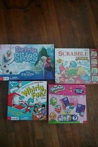 4 complete board games for kids Bloomington, 61701