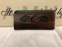 Brown and black floral leather wallet Sherwood Park, T8H 0Z9