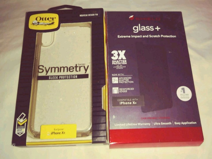 Photo Otterbox iPhone Xr Case & Glass+ Screen Protector for iPhone Xr
