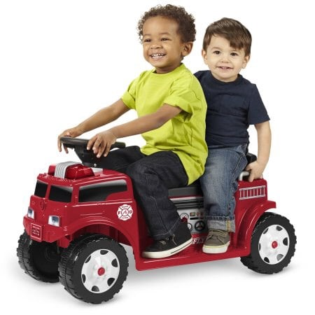 Radio flyer battery operated ride on fire truck 2 rider