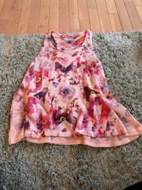 pink and white floral sleeveless dress Grimsby, L3M 5P1