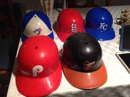 Five hard hats collectibles  $5 each. Higher price on ebay