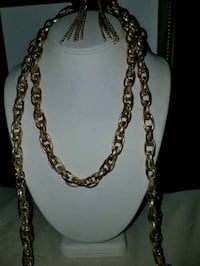 Gold-colored chain necklace Nantucket, 02554