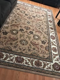 brown and black floral area rug Alexandria, 22304