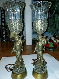Italian crystal cherub desk lamp antique  Phoenixville, 19460