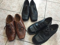 three pairs of brown leather shoes Montréal, H1H