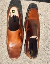 pair of brown leather loafers Mississauga, L5G 3Y6