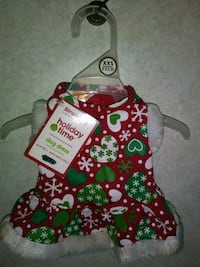 Holiday dog dress XXS For a puppy or small dog Brand new with tag