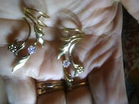 CUFF EARRINGS Gold color w/CZs Spring Hill