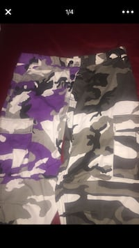 white, black, and gray camouflage shorts Opa-locka, 33054