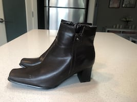 Women's Dark Brown Leather ankle boots