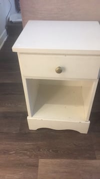 white wooden 2-drawer nightstand Chevy Chase, 20815