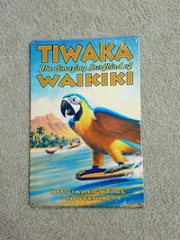 Waikiki hawaii surfbird parrot steel metal sign  Vancouver, 98686