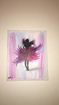 silhouette of woman with pink and purple dress painting Tulare, 93274