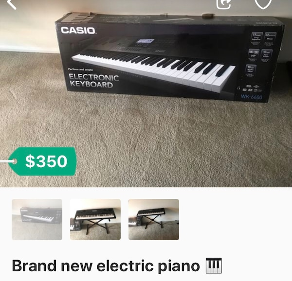 Black and white electric piano