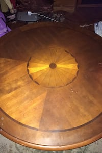 2 pc set round tables coffee table and tall  foyer table designed tops