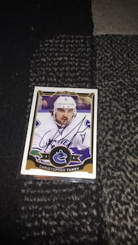 Christopher Tanev ice hockey trading card Vancouver, V5M