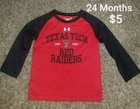 black and red crew neck long sleeve shirt Amarillo, 79104