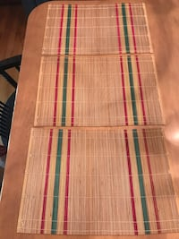 Vintage Bamboo Placemats  Set of 3