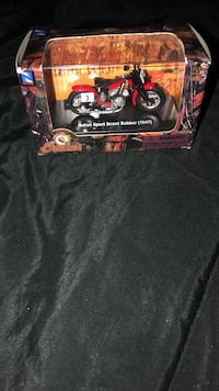 black and red RC car toy