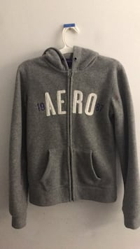 Aéropostale Gray and white zip-up hoodie - Size S Annandale, 22003